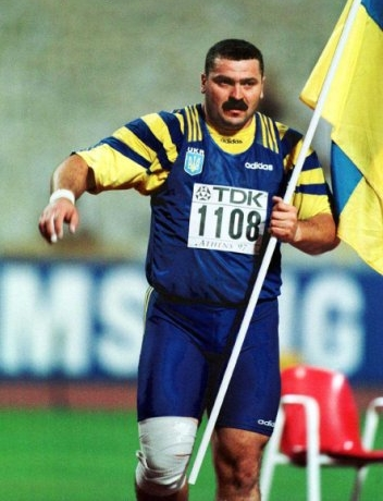Alexander Bagach, the famous Ukrainian shot putter.