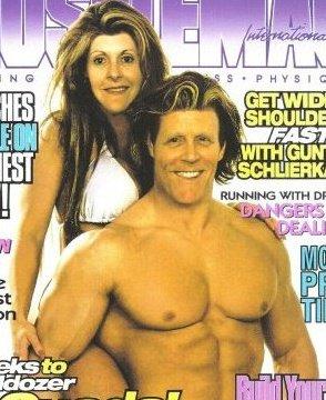 на фото Greg Baxter вместе с женой в 1982году