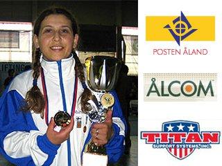 На фото Marcela Sandvik с золотой медалью, завоеванной на ЧЕ 2008 в Братиславе