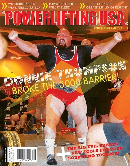 Донни Томпсон на чемпионате SPF Pro/Am собрал сумму 1360,777кг!(573,8+431+356)!
