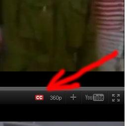 """Чтобы включить субтитры необходимо кликнуть по кнопке """"СС"""""""