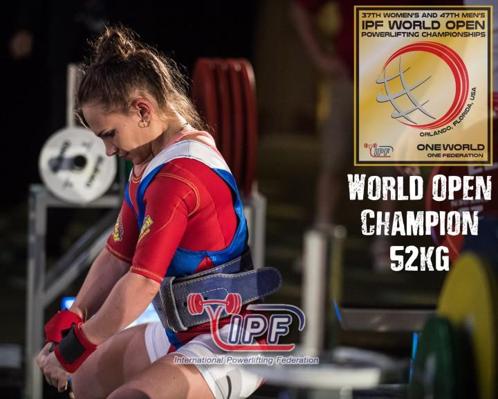 Наталья Сальникова стала 7-кратной Чемпионкой Мира IPF! Поздравляем!
